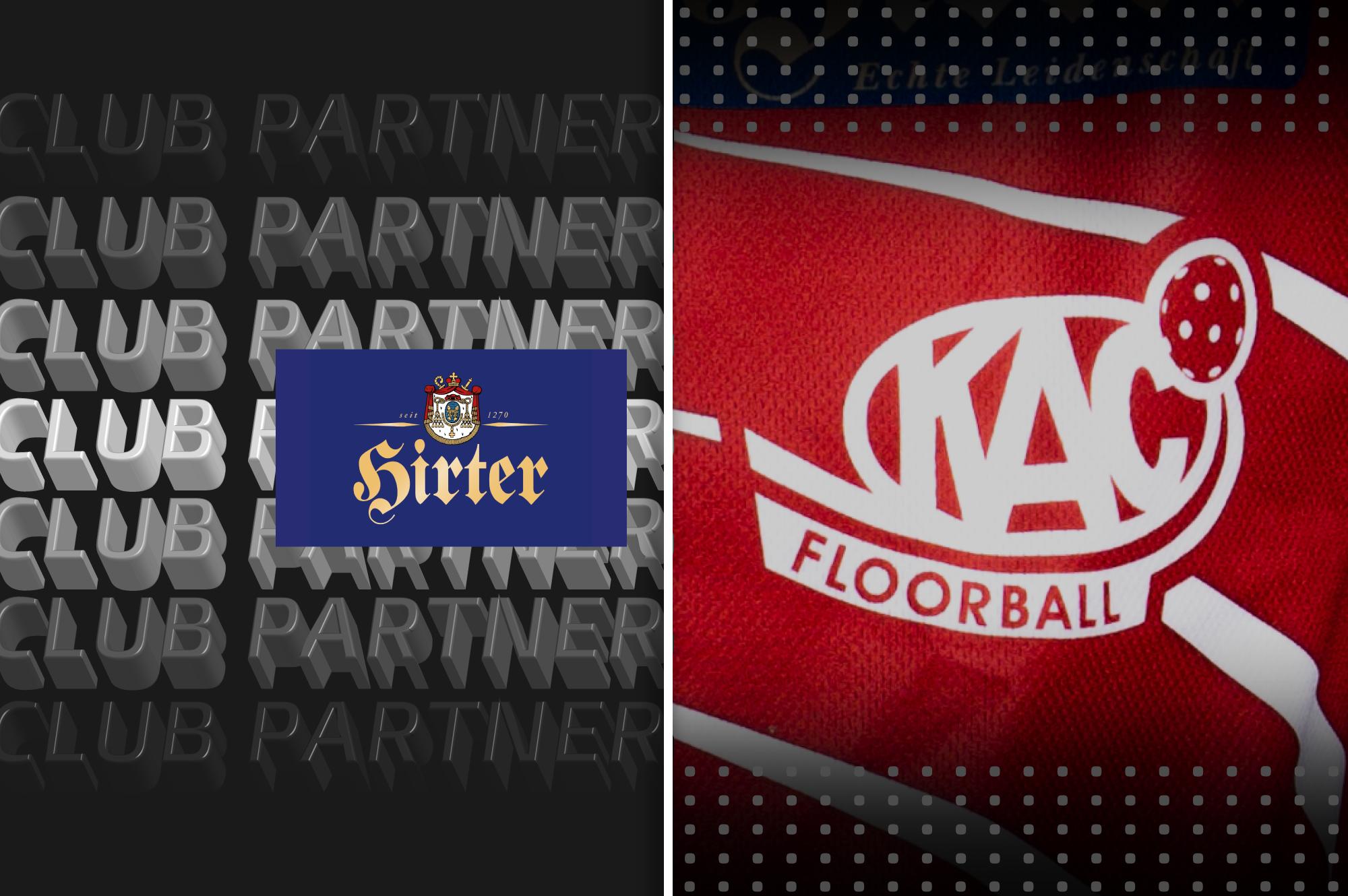 KAC Floorball verlängert Partnerschaft mit der Brauerei Hirt
